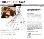 InStyle.com:  Bella Swan's 'Breaking Dawn' Wedding Gown