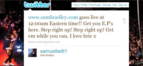 Sam Bradley's Official Twitter