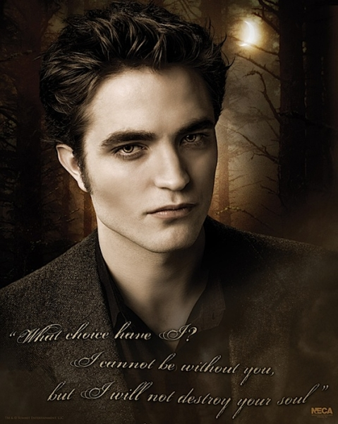 Robert Pattinson as Edward Cullen - New Moon Poster - Photo Courtesy of NewMoonMovie.org