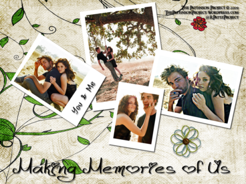 Wallpaper:  Robsten:  Making Memories of Us - Version II