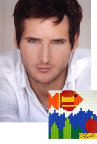 Peter Facinelli - LEGO Mosaic - Donated for Charity - Photo Courtesy of CharityBuzz.com