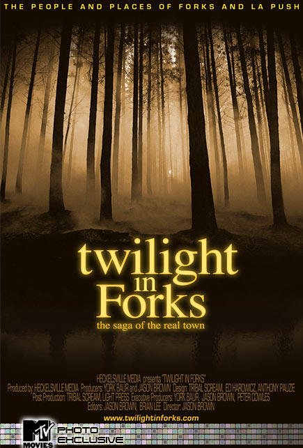 Twilight in Forks - Official Documentary Poster - Courtesy of MTV.com