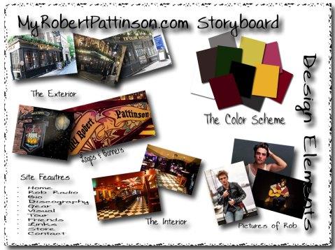 MyRobertPattinson.com - Storyboard