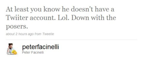 Peter Facinelli responds to Rob's first Twitter experience!