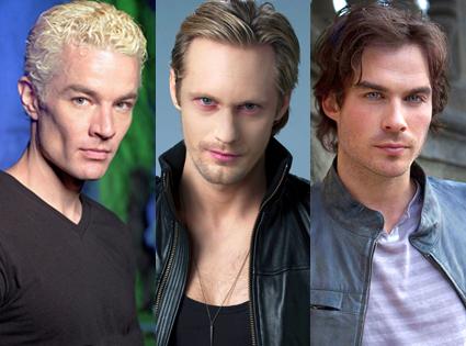 Spike, Eric & Damon - Vampire Wars - Photo courtesy of E! News