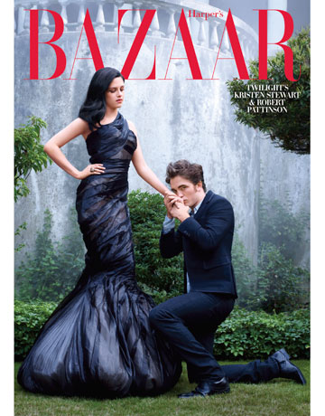 Robert Pattinson & Kristen Stewart get some coverage with Harper's Bazaar