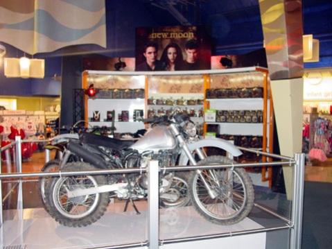 Jacob's bike on display in Toys R Us