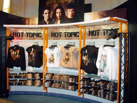 Hot Topic display in Toys R Us