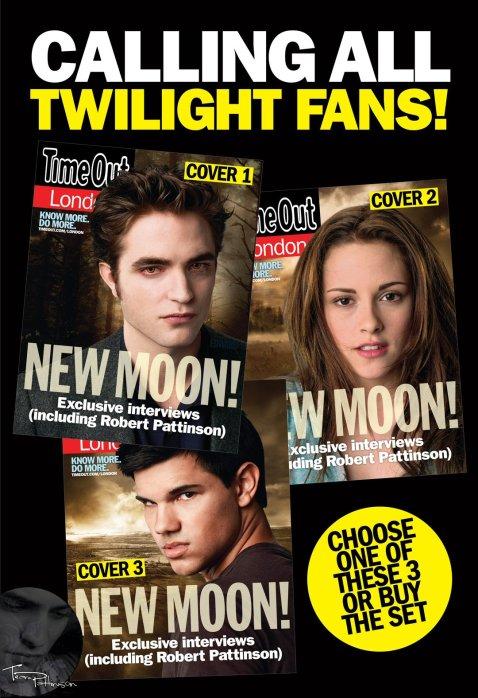 Edward, Bella & Jacob - Time Out London Magazine teaser