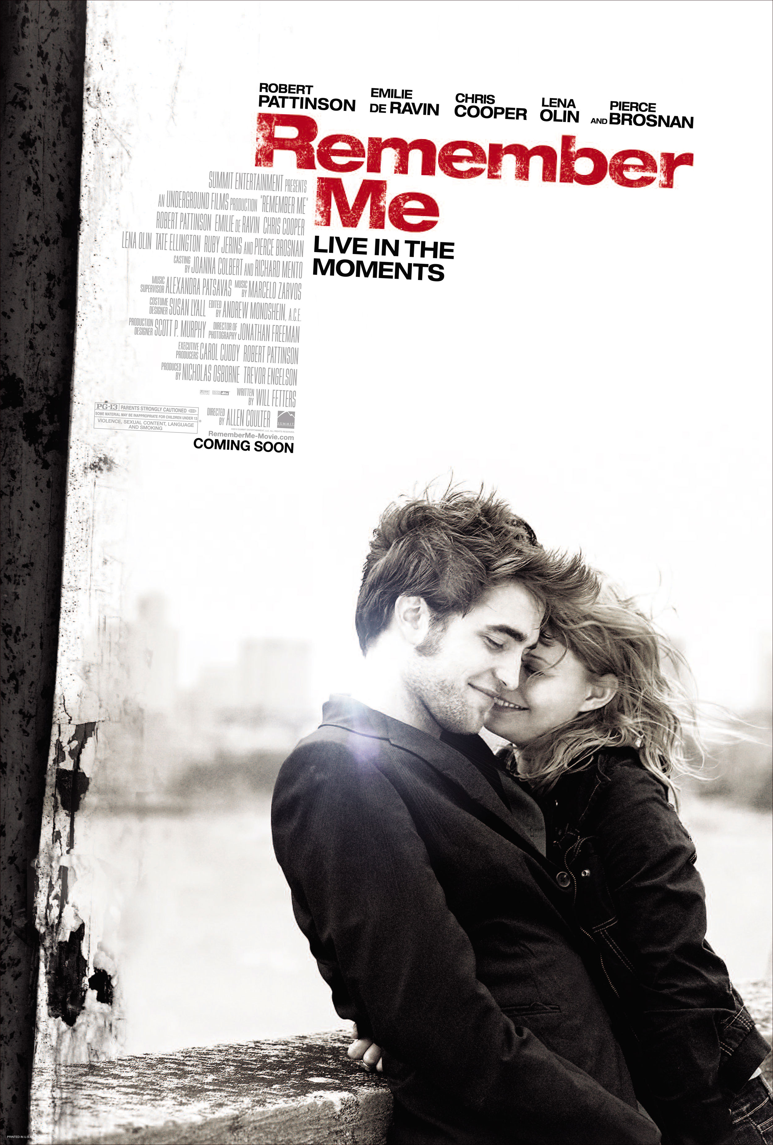 remember me Remember me (2010):a romantic drama centered on two new lovers: tyler, whose parents have split in the wake of his brother's suicide, and ally, who lives each day to.
