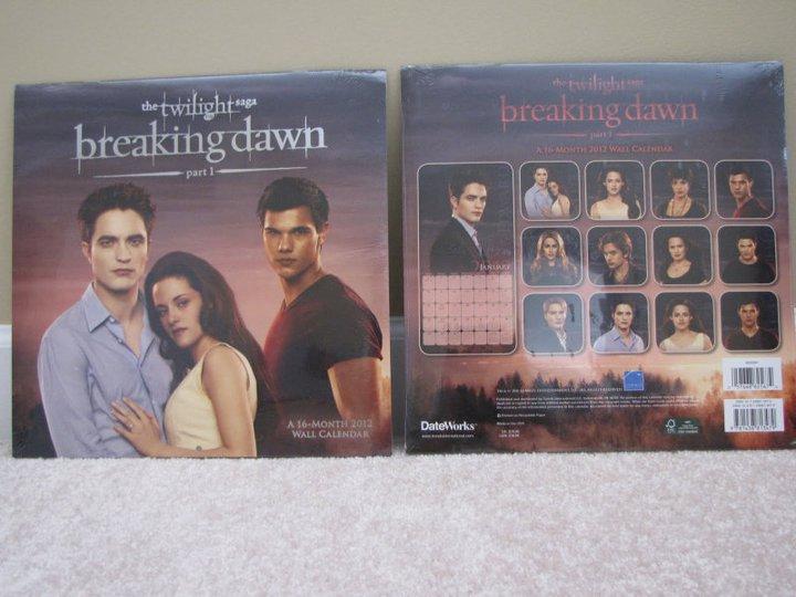 twilight naptár Photos: Robert Pattinson & Twilight Saga cast featured on 2012  twilight naptár